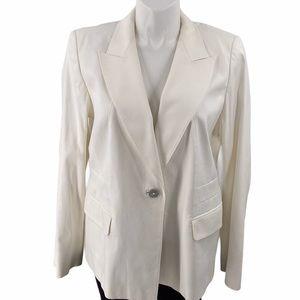 Marina Rinaldi size 18 white cotton blazer